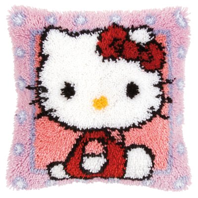 Vervaco Kits PNV148212 Hello Kitty Latch Hook Cushion