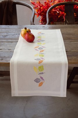 Vervaco Kits PNV148307 Colorful Leaves Runner