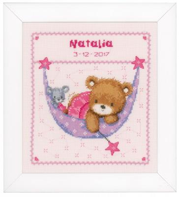 Vervaco Kits PNV148471 Little Bear In Hammock ~ 14 count Aida