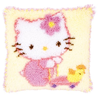Vervaco Kits PNV150851 Hello Kitty Ducks Latch Hook Cushion