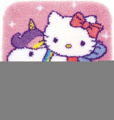 Vervaco Kits PNV153316 Hello Kitty Latch Hook Rug