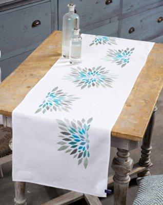 Vervaco Kits PNV154580 Blue Grey Flowers Runner