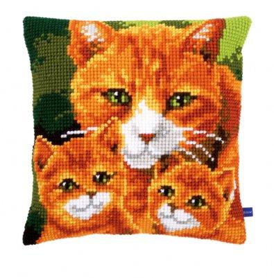 Vervaco Kits PNV154804 Cat Family Cushion