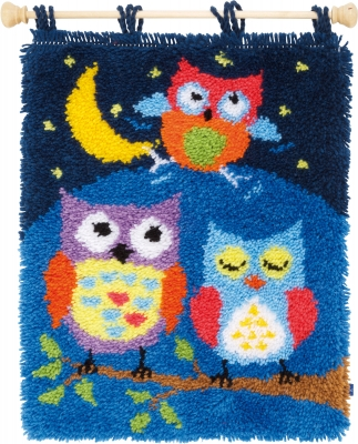 Vervaco Kits PNV154926 Owl In The Night Latch Hook Rug