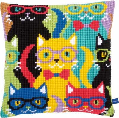 Vervaco Kits PNV155266 Funny Cats Cushion