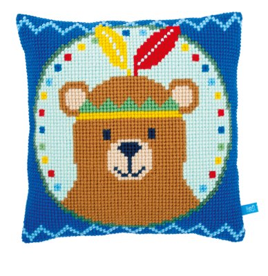 Vervaco Kits PNV155334 Bear with Feather Cushion