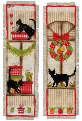 Vervaco Kits PNV155657 Christmas Atmosphere Bookmarks