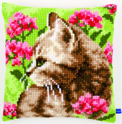 Vervaco Kits PNV155961 Cat In Field Of Flowers Cushion