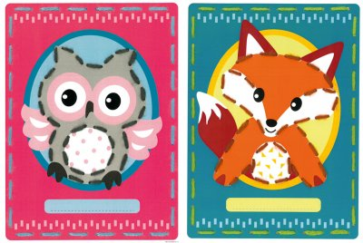 Vervaco Kits PNV157034 Owl/Fox Cards (set of 2)