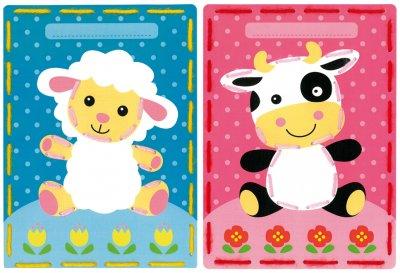 Vervaco Kits PNV157035 Lamb/Cow Card Set (set of 2)