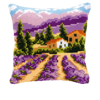 Vervaco Kits PNV8637 Lavender Field Cushion
