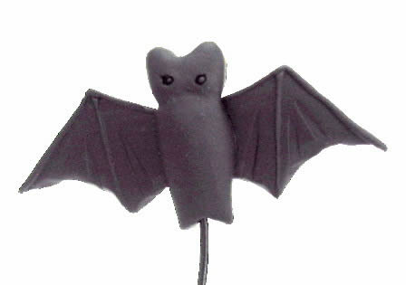 Acorn House Designs Closeout Wired Bat - Handmade Clay