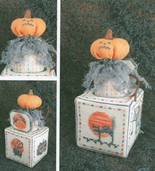 Acorn House Designs Closeout Jack-O-In-The-Box with Embellishments