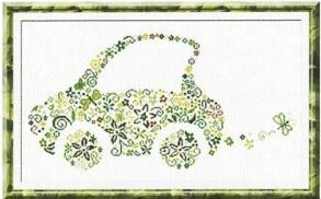 Alessandra Adelaide Needleworks AAN166 Small Green Car