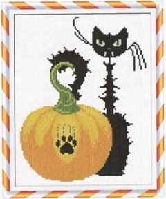Alessandra Adelaide Needleworks AAN167 Halloween Meow