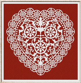 Alessandra Adelaide Needleworks AAN183 Lace Heart