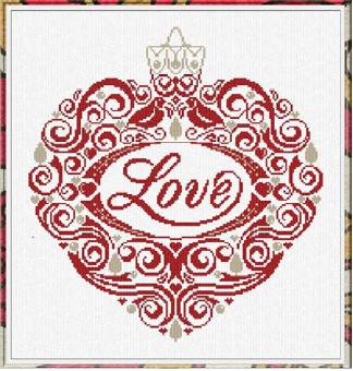 Alessandra Adelaide Needleworks AAN264 Love Ornament