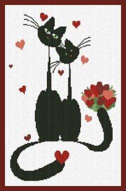 Alessandra Adelaide Needleworks AAN298 Mr. & Mrs. Meow