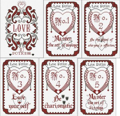 Alessandra Adelaide Needleworks AAN355 The Book Of Love Potions ~ Part 1 of 6
