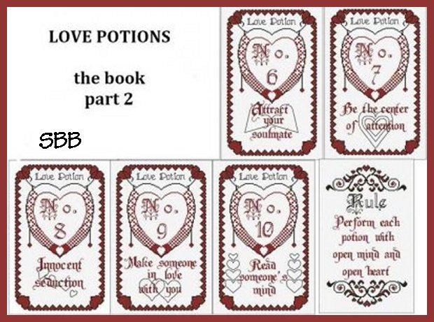 Alessandra Adelaide Needleworks AAN364 The Book Of Love Potions Part Two