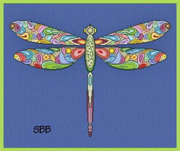 Alessandra Adelaide Needleworks AAN369 Happy Dragonfly