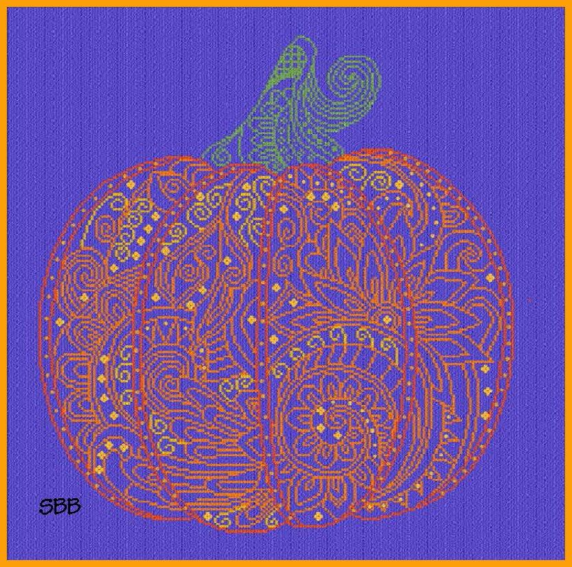 Alessandra Adelaide Needleworks AAN378 Lace Pumpkin
