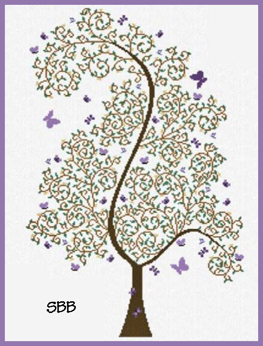 Alessandra Adelaide Needleworks AAN411 Tree of Butterflies