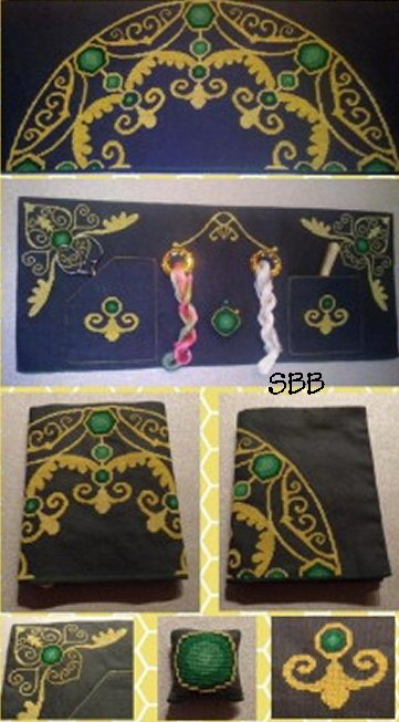 Alessandra Adelaide Needleworks AAN558 Treasure Of Emeralds 3D Cloth Case