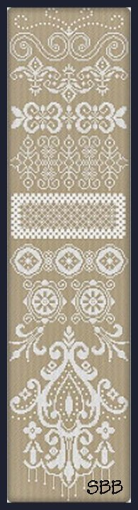 Alessandra Adelaide Needleworks AAN560 White Band Sampler