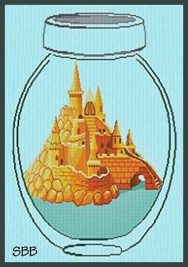 Alessandra Adelaide Needleworks AAN566 Castle In A Jar