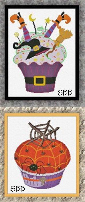 Alessandra Adelaide Needleworks AAN569 Halloween Cupcakes 5 & 6