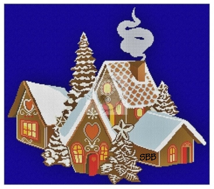 Alessandra Adelaide Needleworks AAN589 Ginger Bread Village