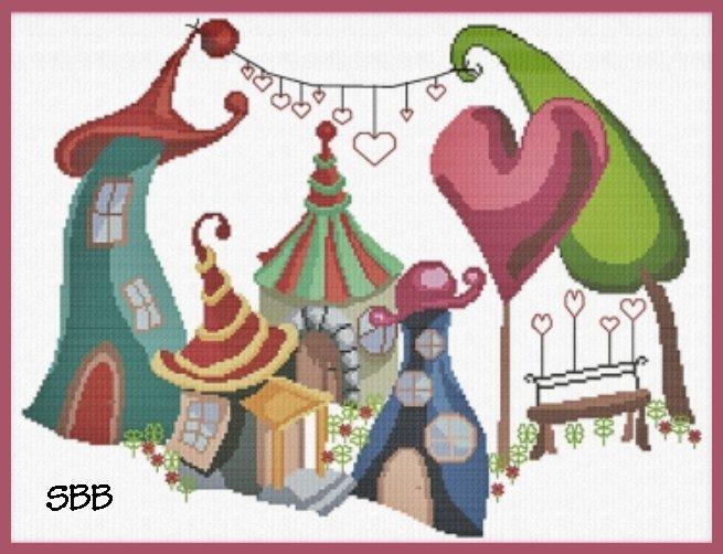 Alessandra Adelaide Needleworks AAN600 Village Of Love