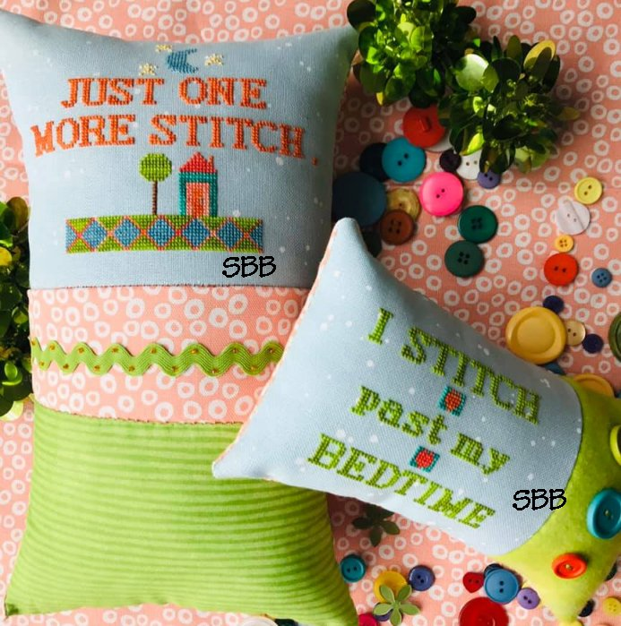 Amy Bruecken Designs Just One More Stitch / I Stitch Past My Bedtime