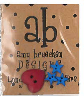 Amy Bruecken Designs Long May She Wave Embellishments