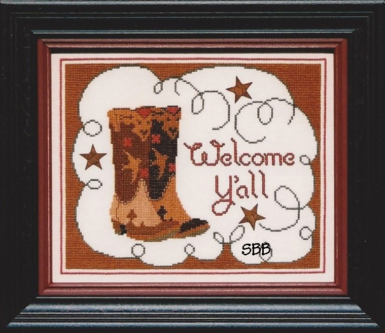 Annalee Waite Designs Welcome Y'all with Stars