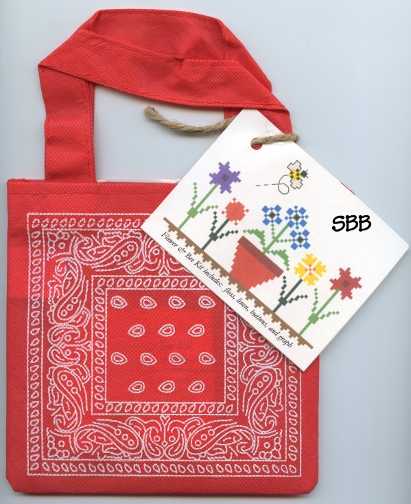 Annalee Waite Designs Limited Edition Flower And Bee Kit (Red Tote)