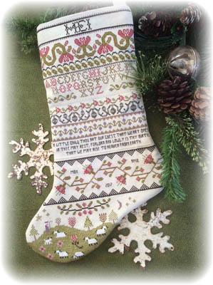 Annie Beez Folk Art Band Sampler Stocking