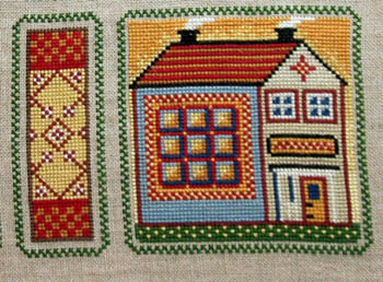 Annie Beez Folk Art Dandelion Cabin
