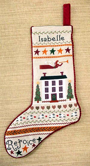 Annie Beez Folk Art Folk Art Stocking