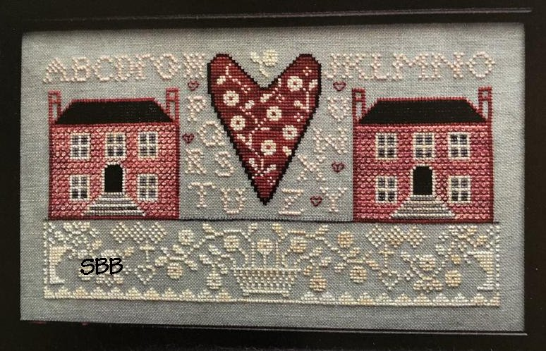 Annie Beez Folk Art Little Pink Houses