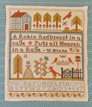 Annie Beez Folk Art Robin Redbreast