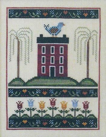 Annie Beez Folk Art Tulip House