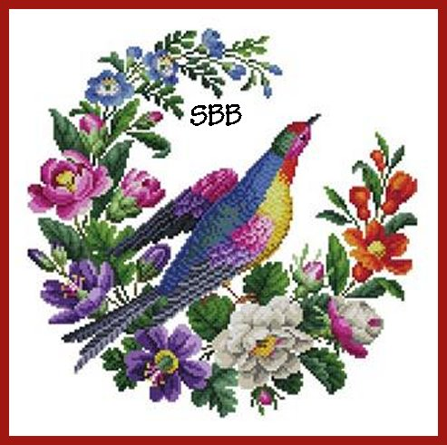 Antique Needle Work Designs33498 Berlin Floral Bird