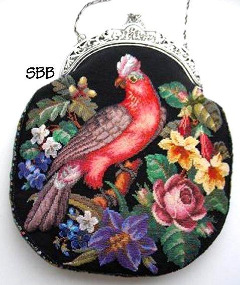 Antique Needle Work Designs33500 Berlin Woolwork Floral Cockatoo