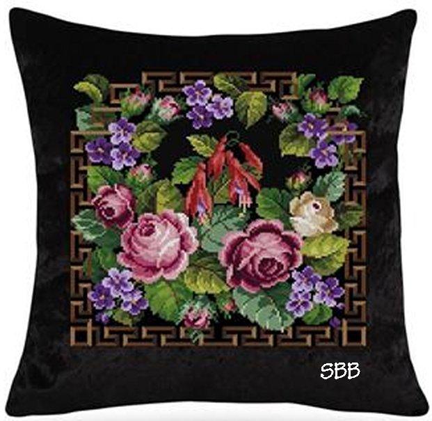 Antique Needle Work Designs36323 Antique Floral Bouquet