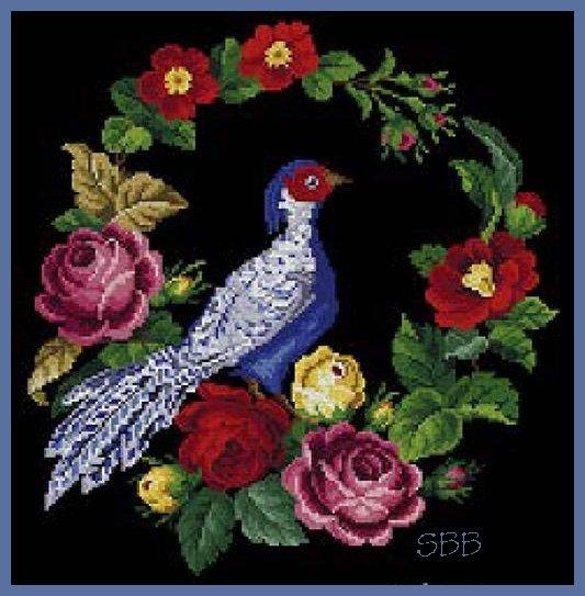 Antique Needle Work Designs37760 Antique Victorian Floral Pheasant