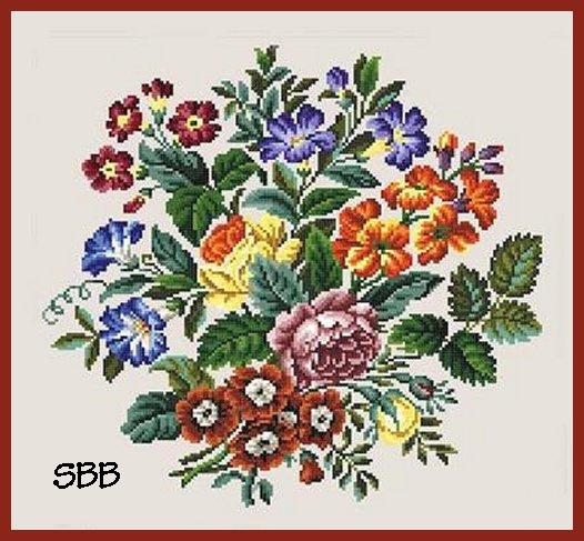 Antique Needle Work Designs37818 Berlin Bouquet
