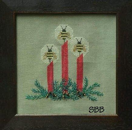 Arachne's Silken Web Christmas Bee Candles