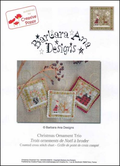 Barbara Ana Designs Christmas Ornament Trio